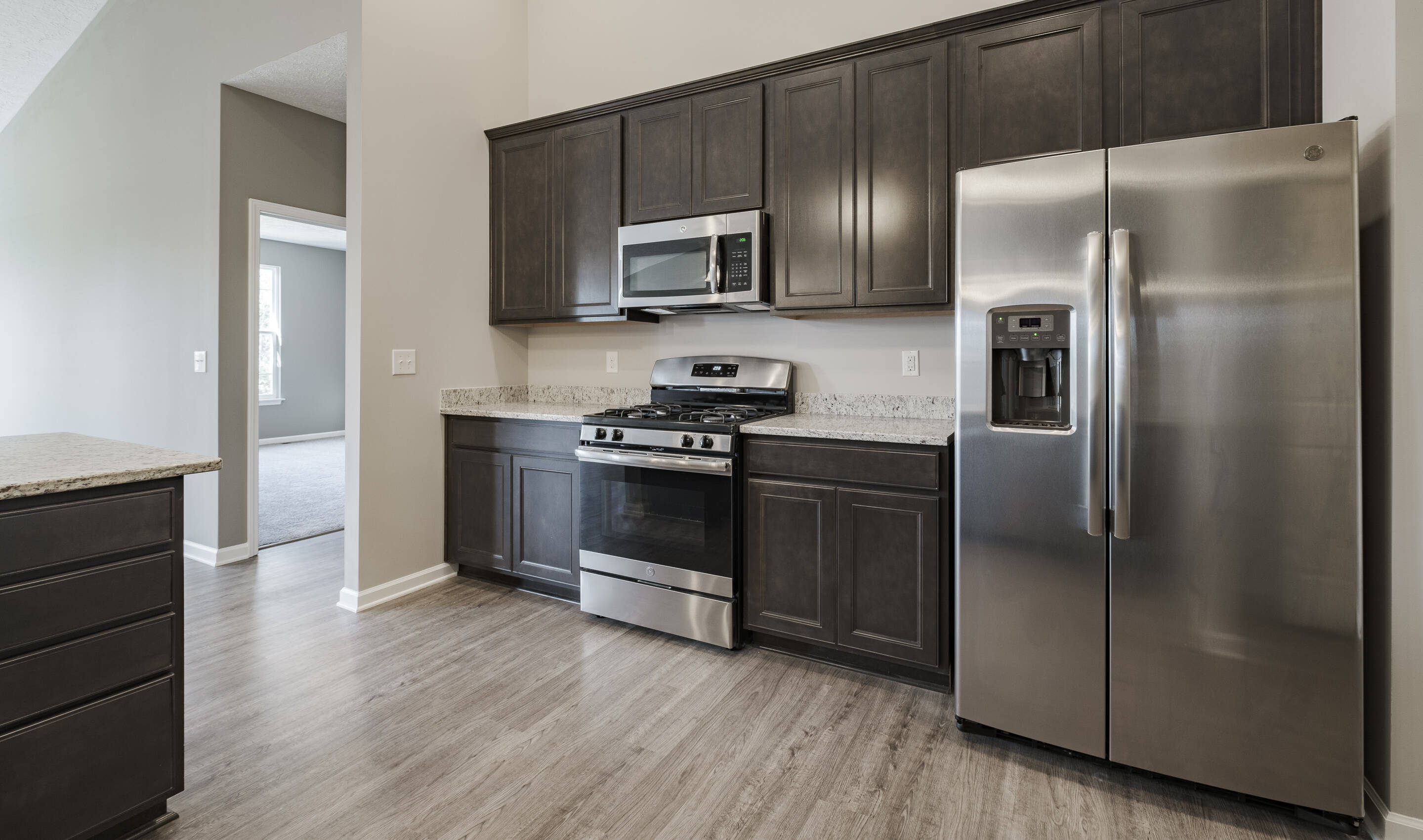 Optional stainless steel appliance package