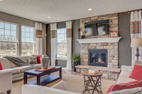 stone fireplace new home aurora reminderville  summit county