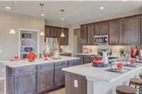 kitchen with island and granite countertops aurora ohio