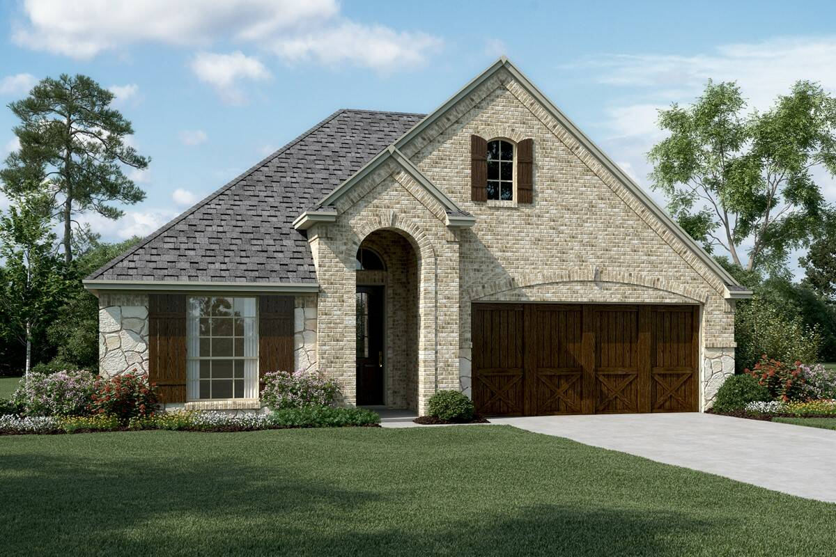 Lynnwood IV C Stone new homes in dallas texas