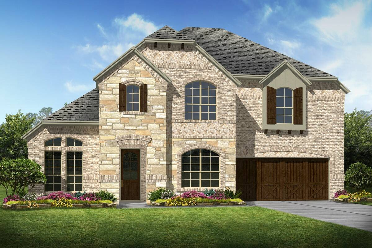 Rosemeade II C Stone New Homes dallas texas
