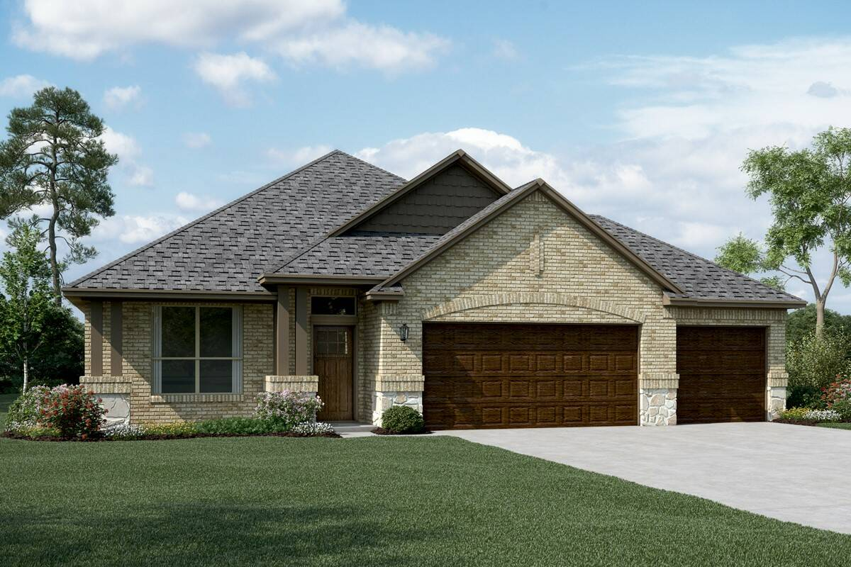 Birkdale II C 3 car Stone new homes dallas tx