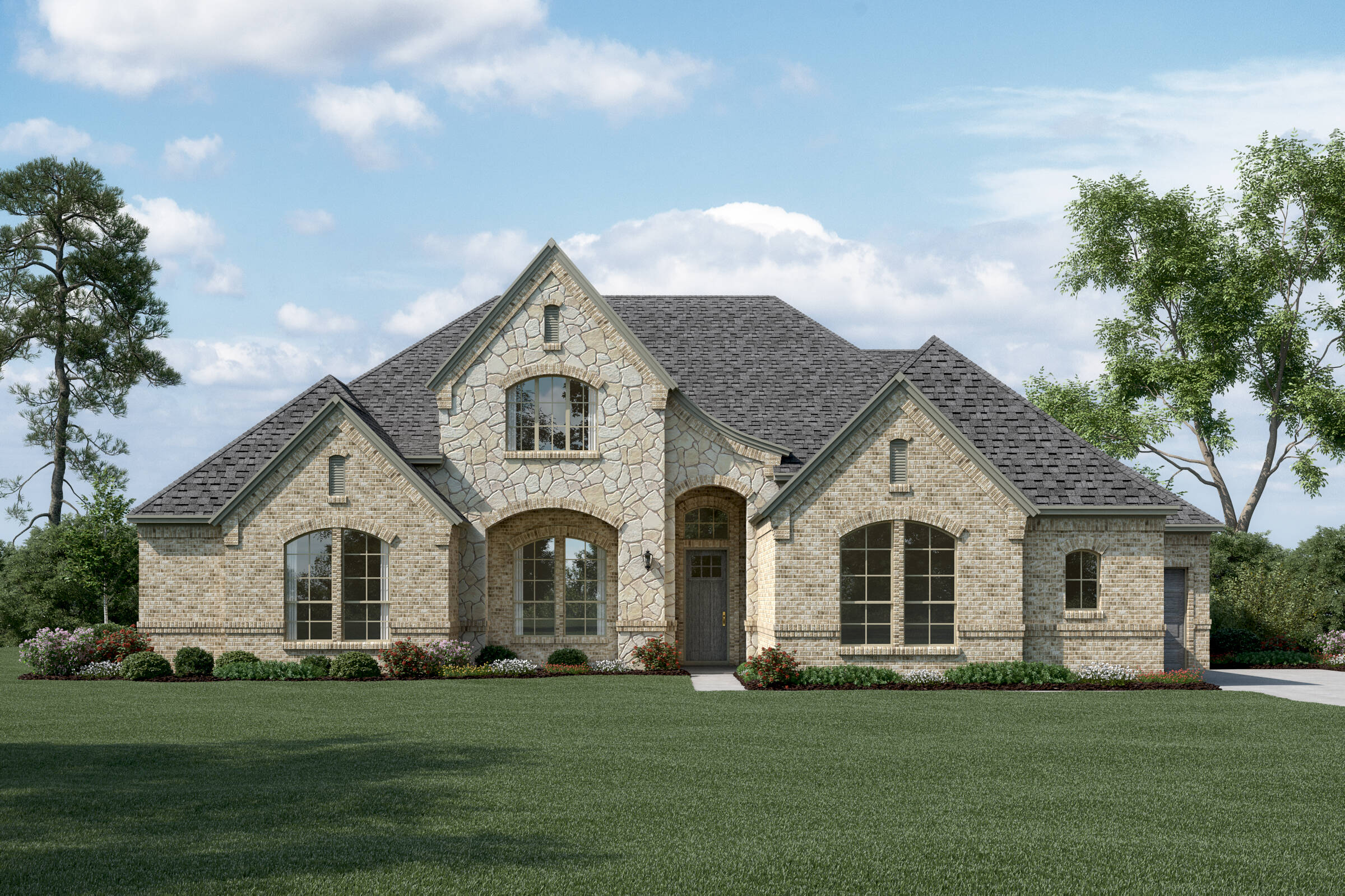 Brookside L Stone new homes dallas tx