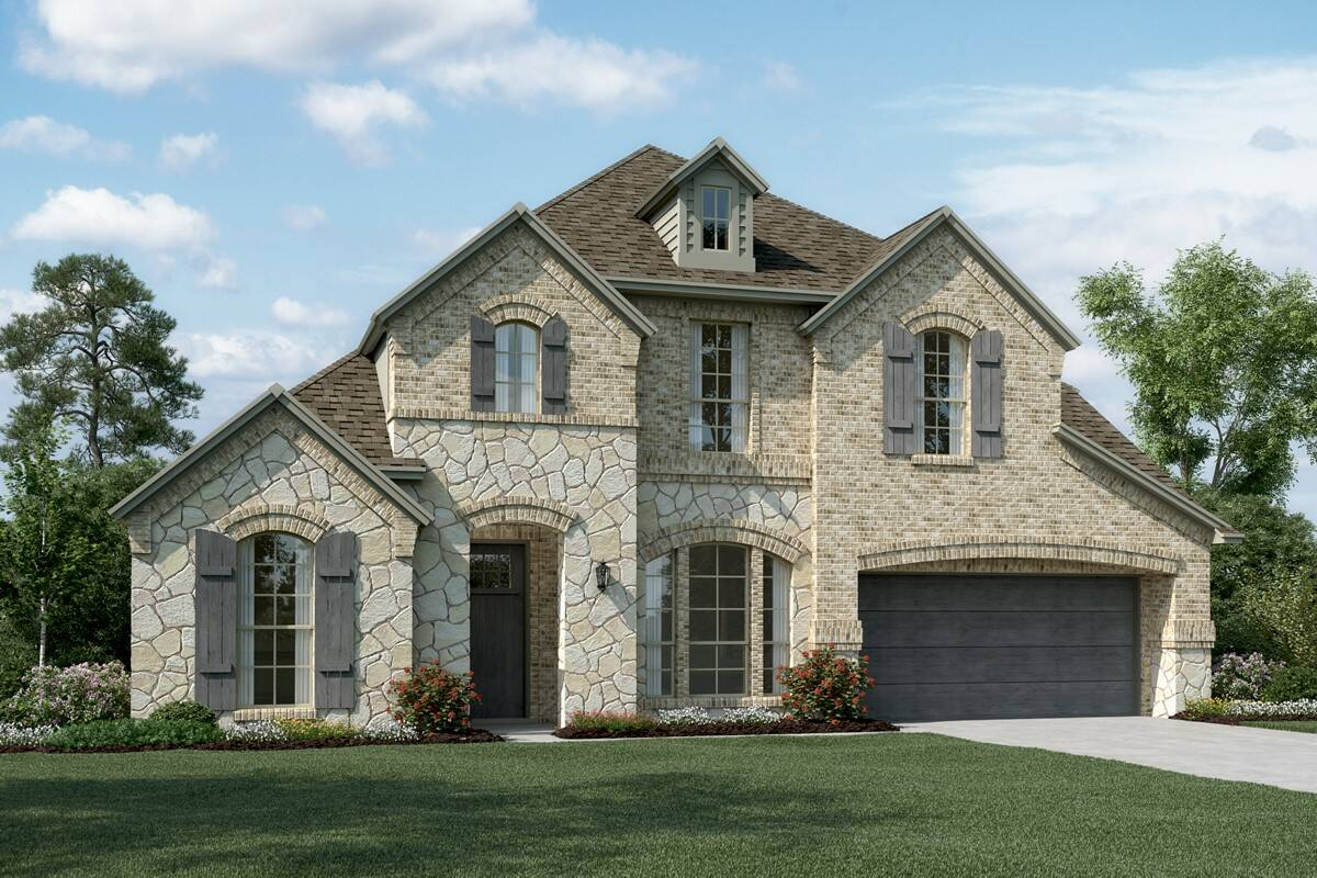 Clarendon II C Stone new homes dallas texas