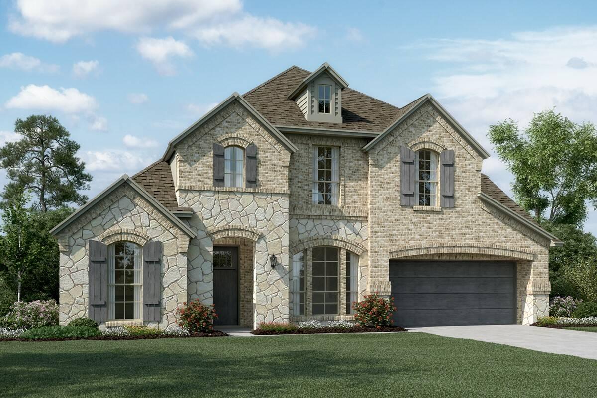 Clarendon II C Stone new homes dallas texas
