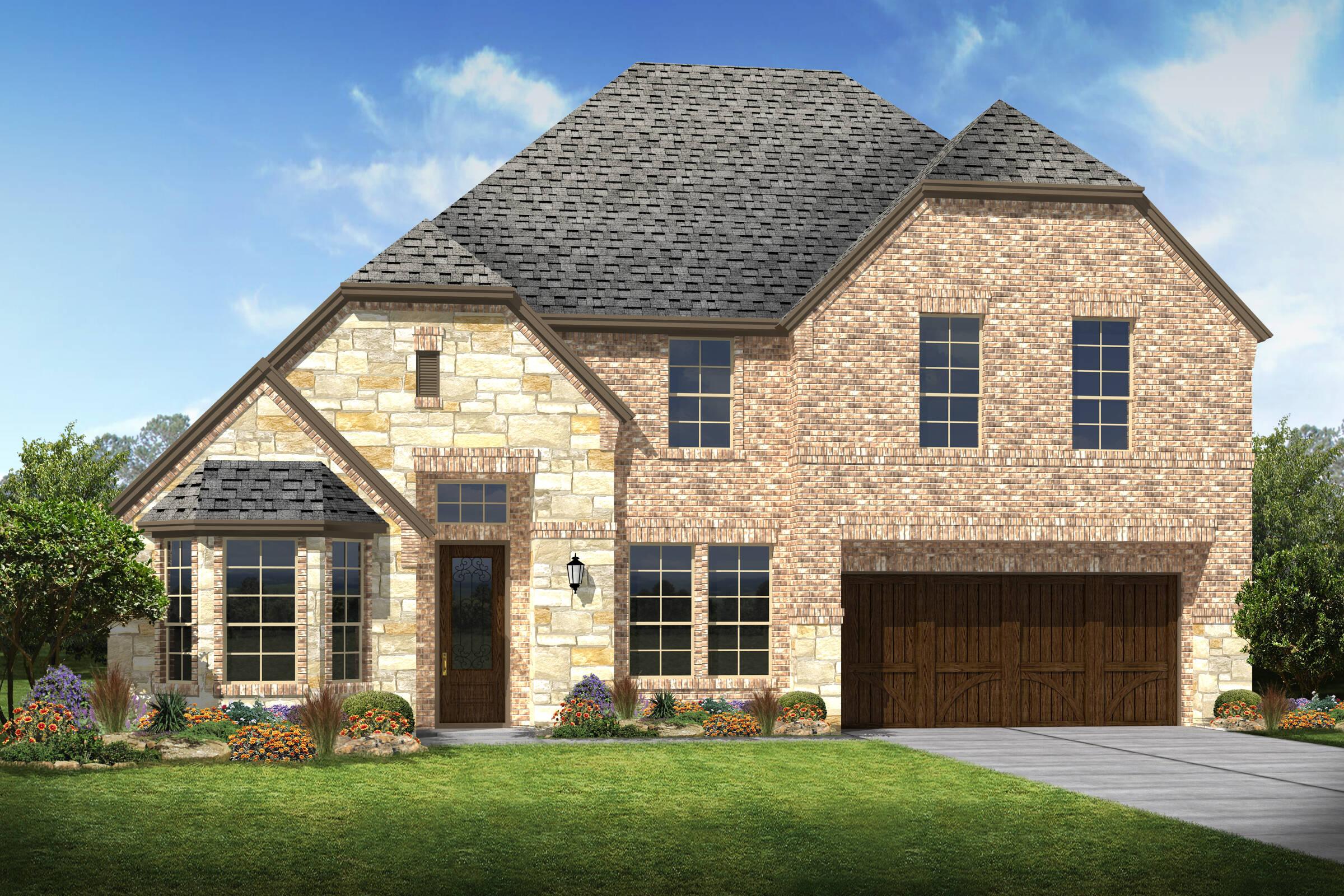 Clarendon IV E Stone new homes dallas texas