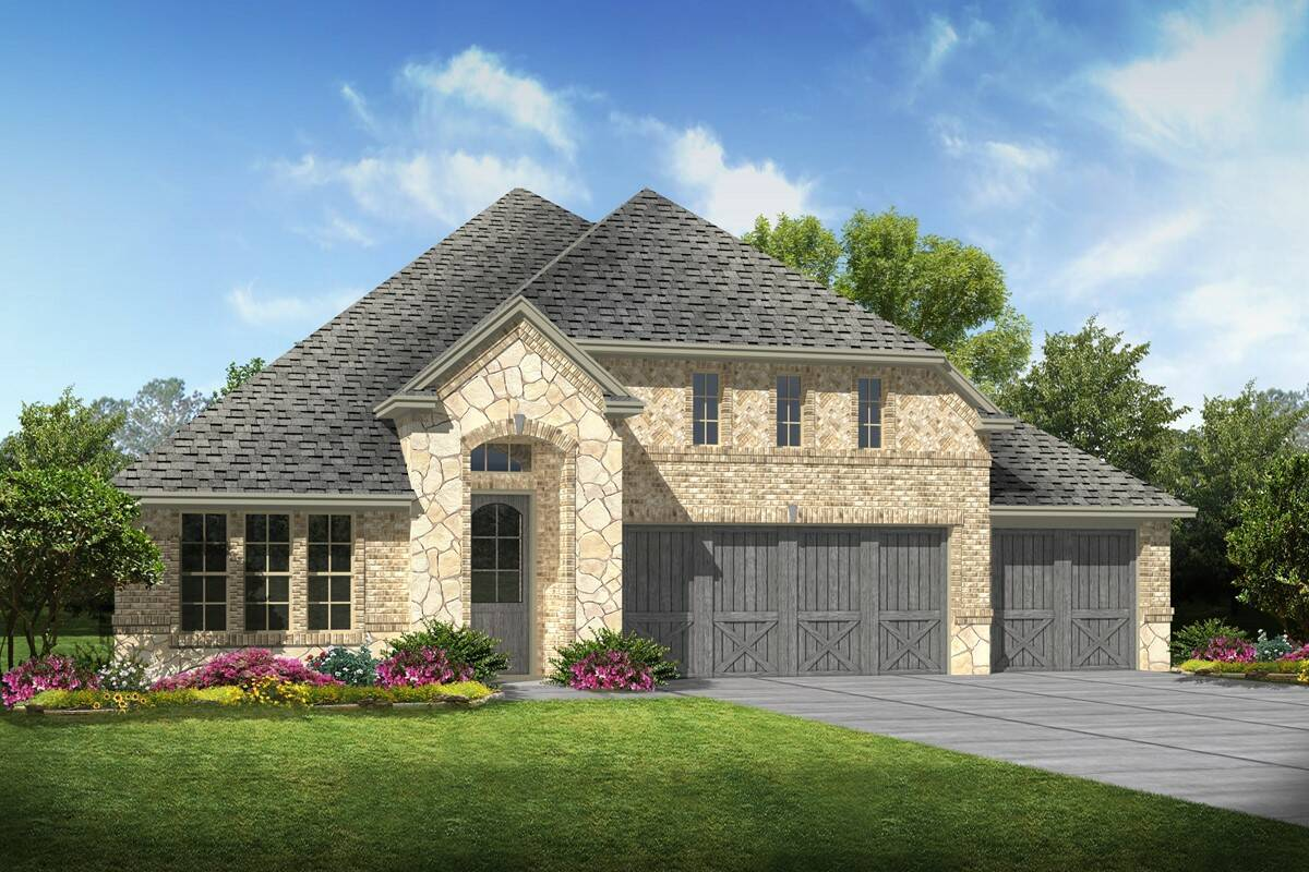 Danbury II C Stone new homes dallas texas