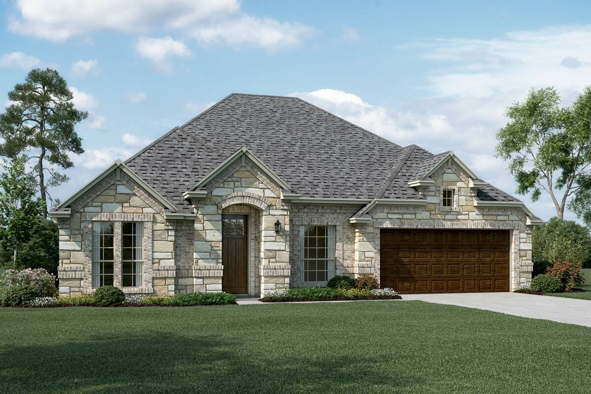 Danbury IV C Stone new homes dallas tx