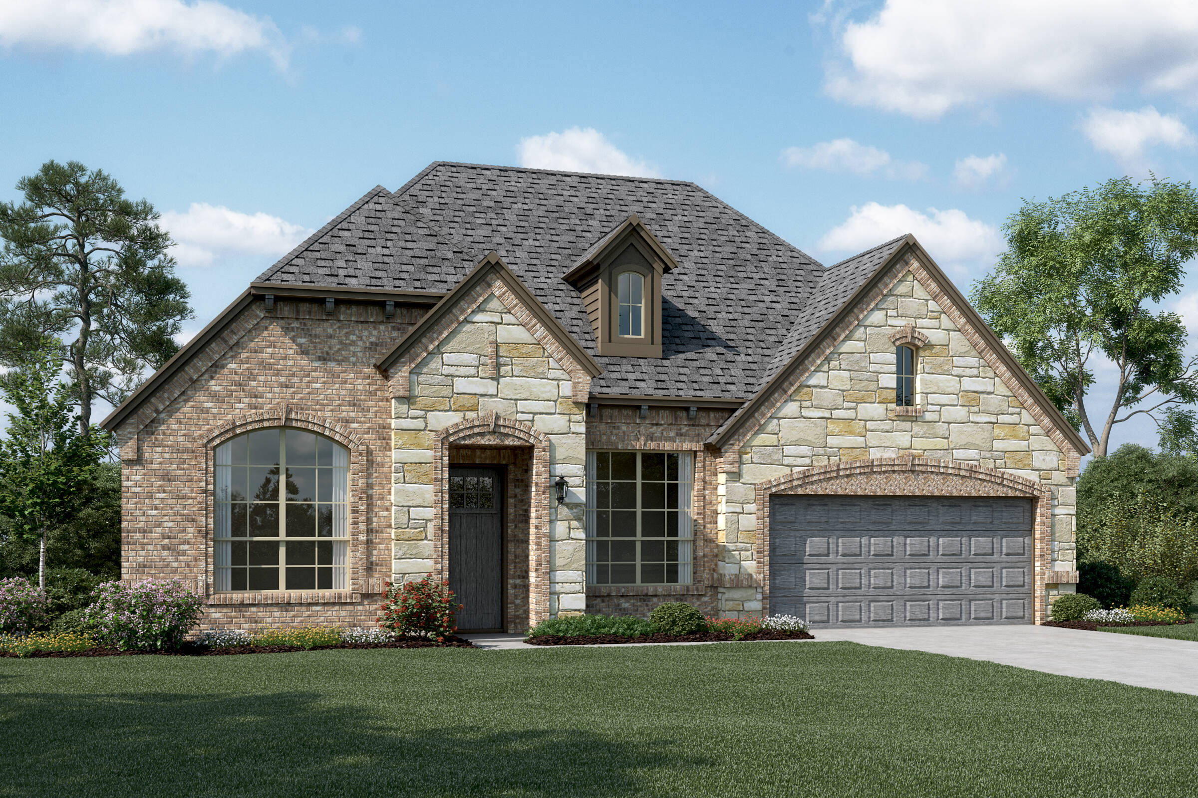 Danbury V E Stone new homes dallas tx