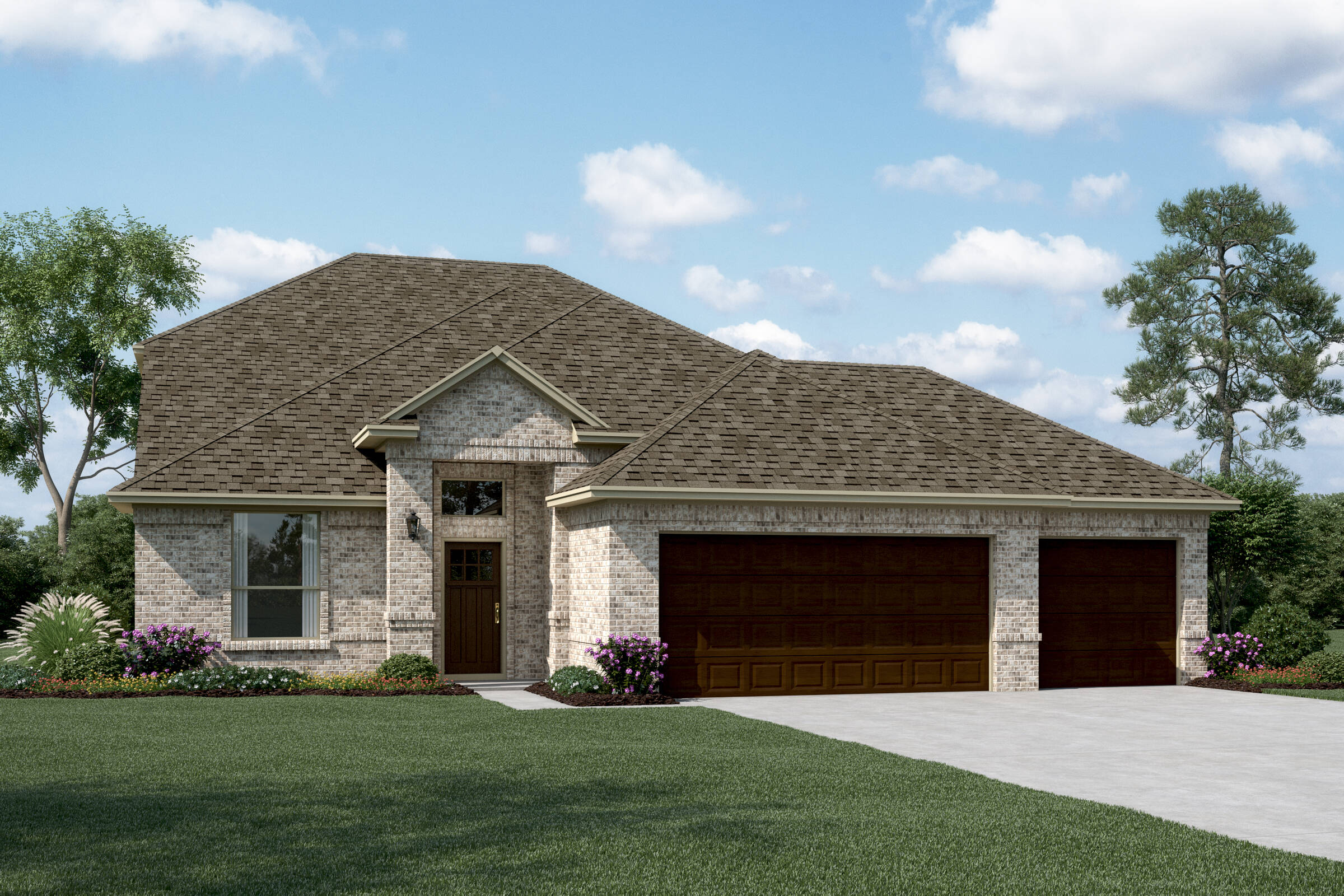Delaware II A 3 Car new homes dallas tx