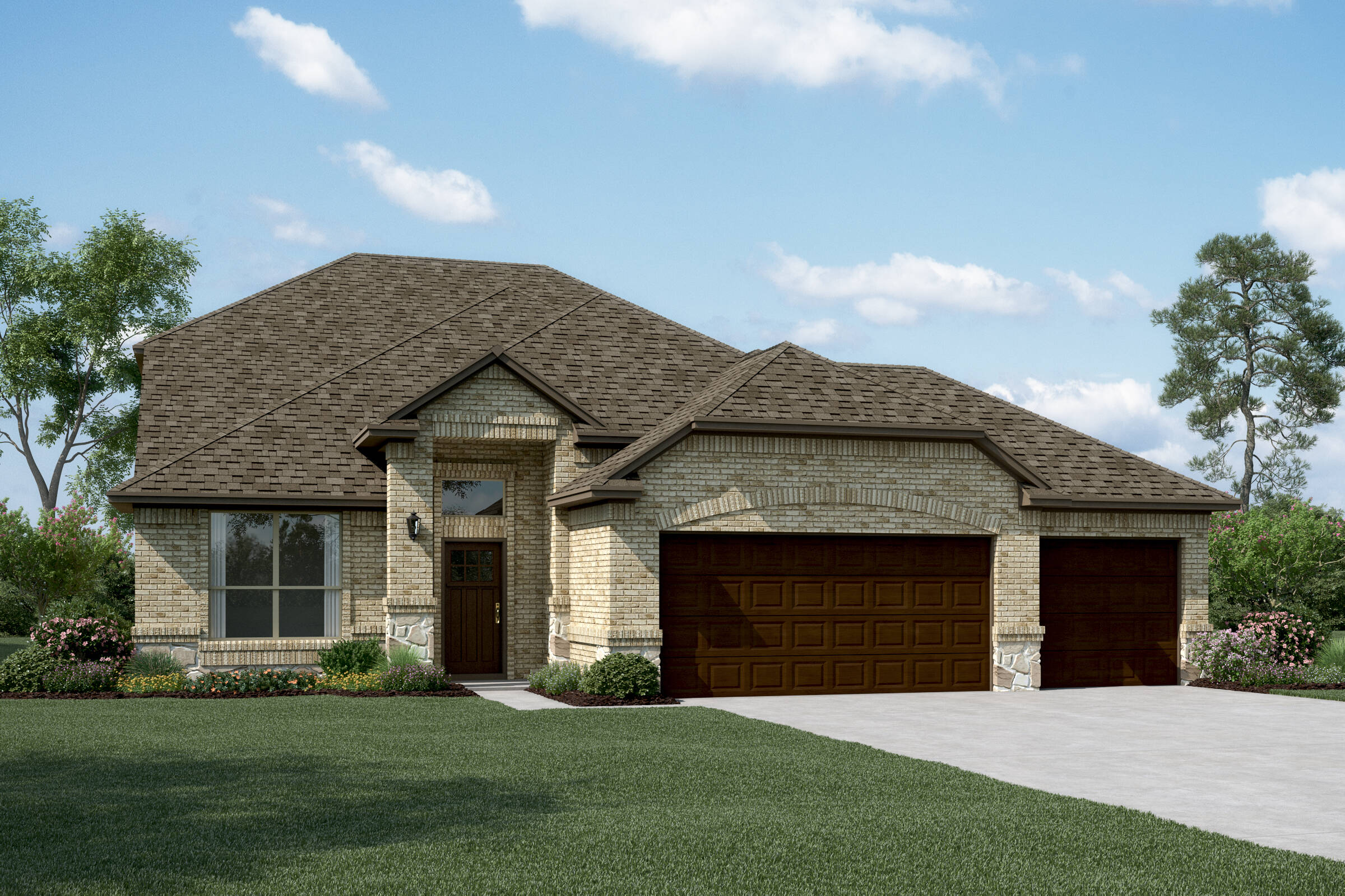 Delaware II B Stone 3 Car new homes dallas tx