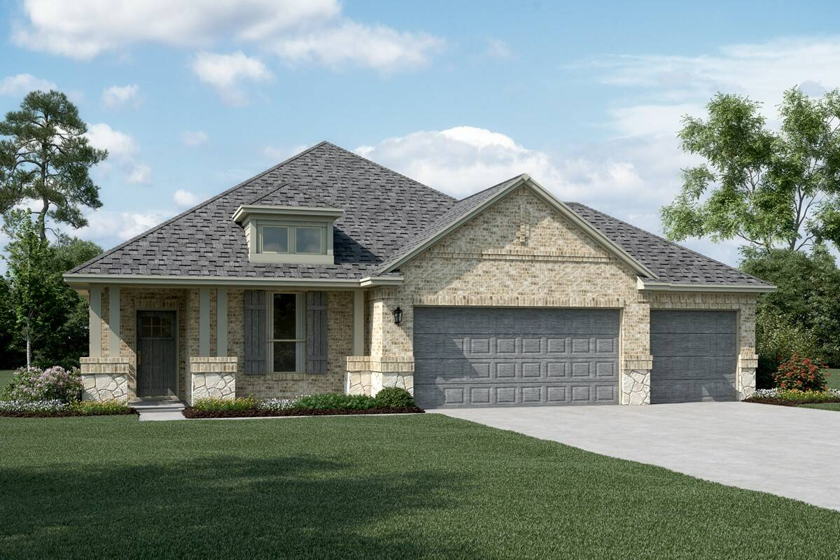 Dover II C Stone 3 Car new homes dallas tx
