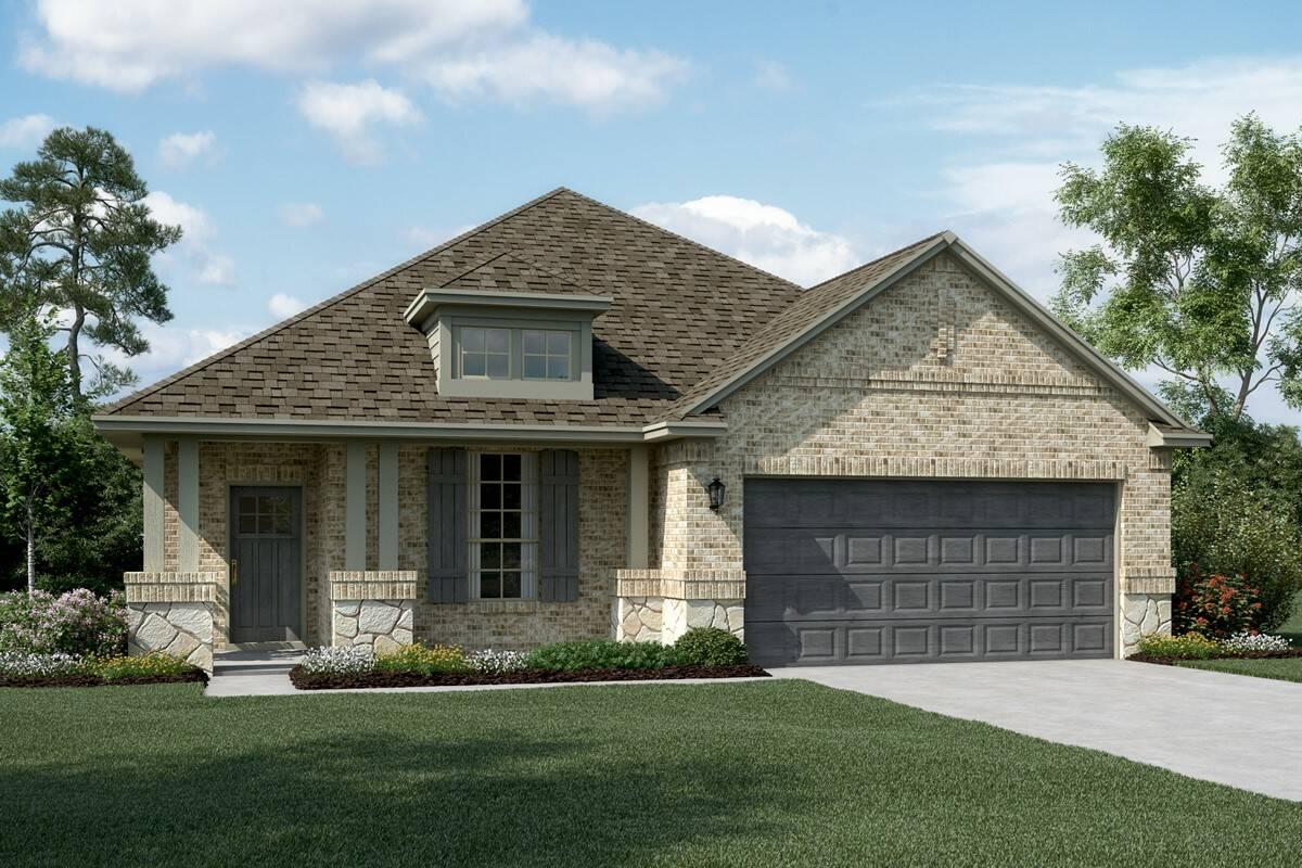 Dover II C Stone new homes dallas texas