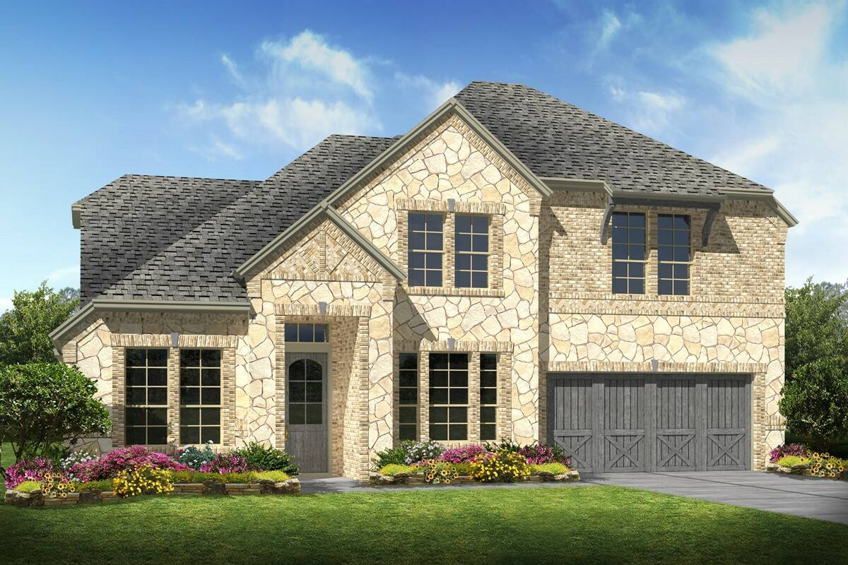 Hampshire II C Stone new homes dallas texas