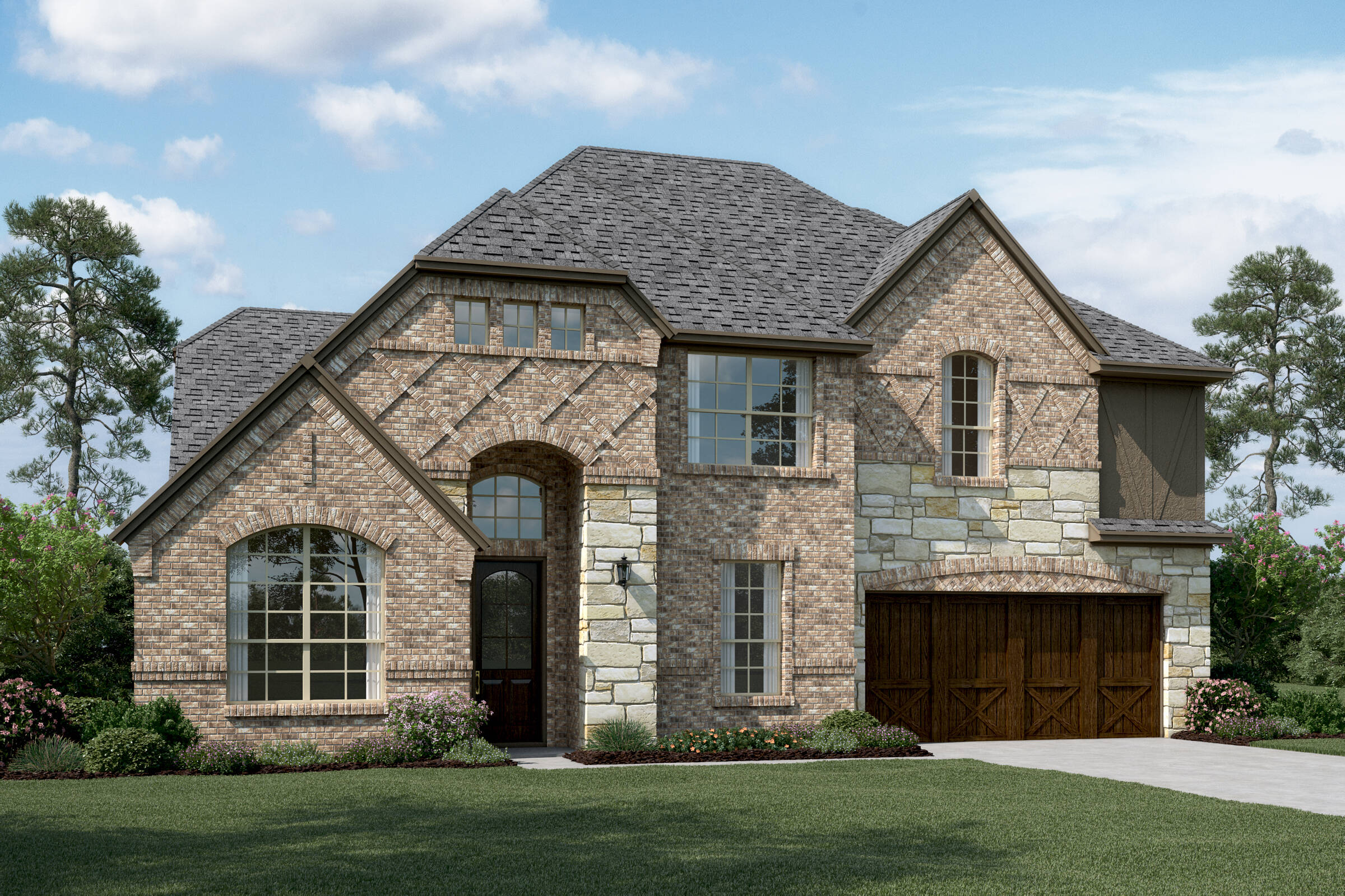 Hampshire III E Stone new homes dallas texas