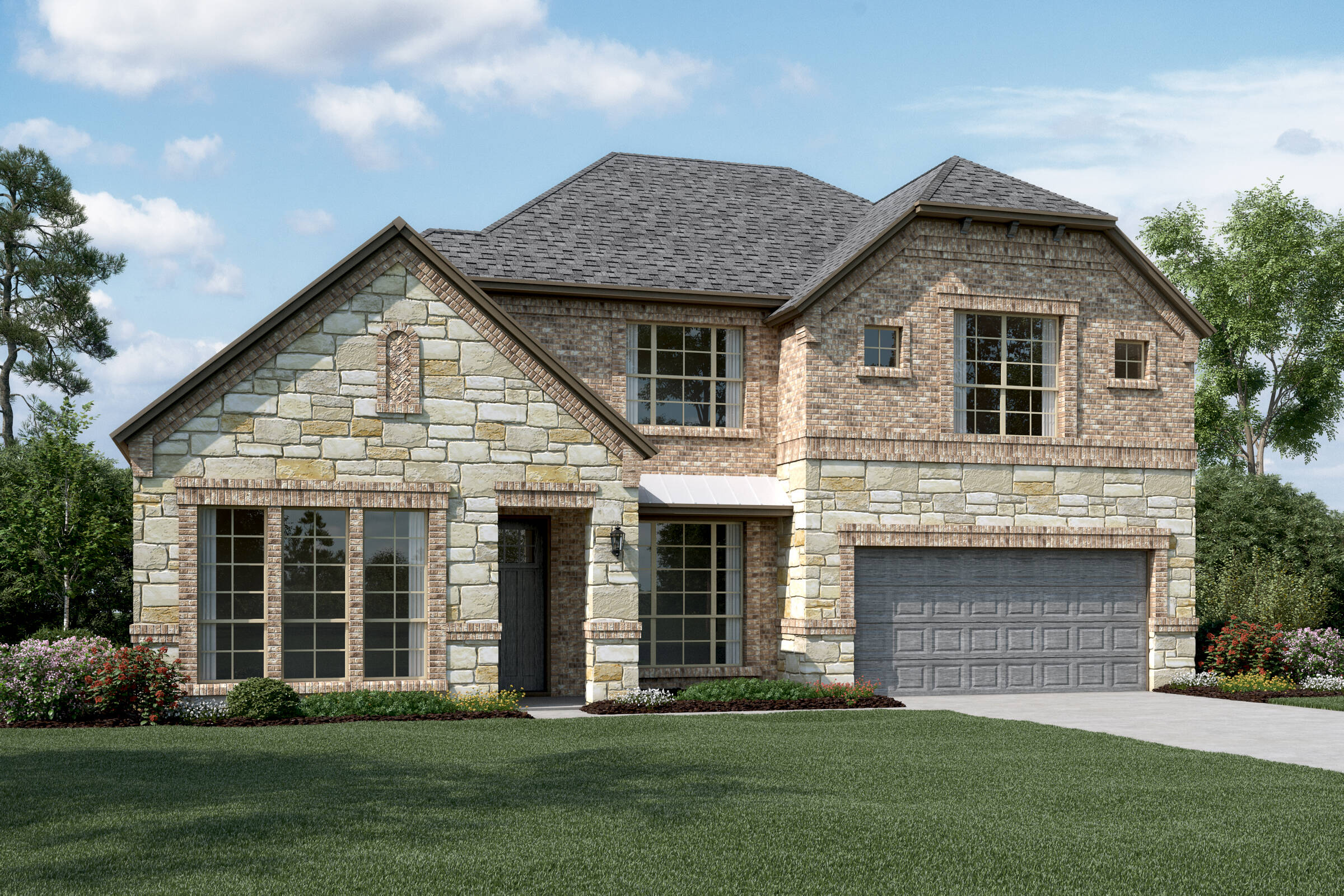 Hillcrest IV C Stone new homes dallas tx