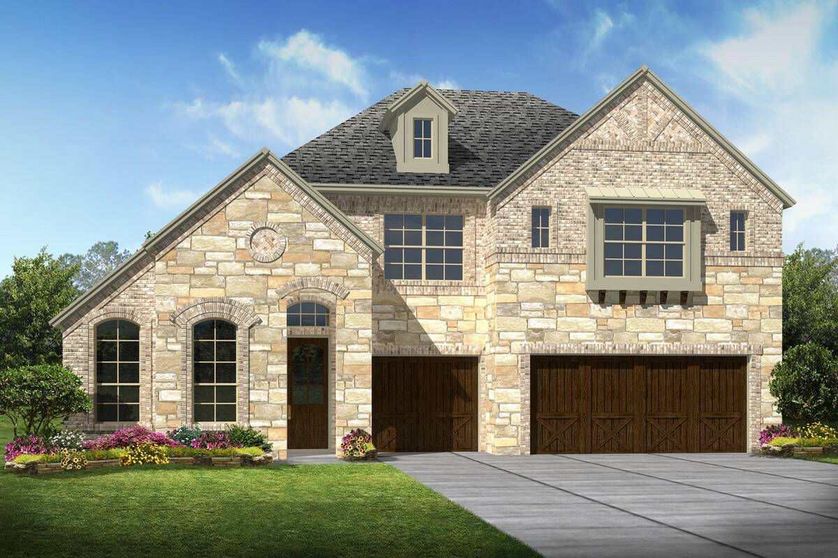Hillcrest II C Stone new homes dallas texas