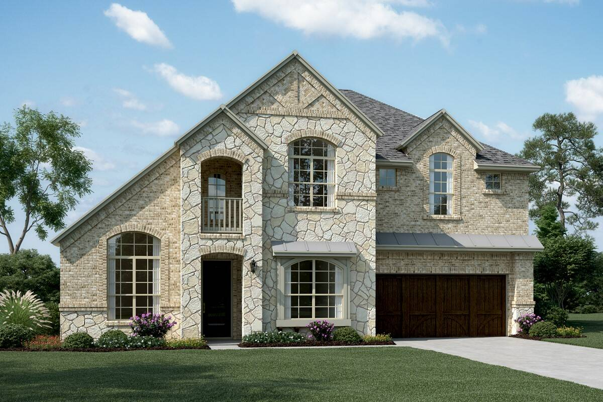 Rosemeade III D Stone new homes dallas tx
