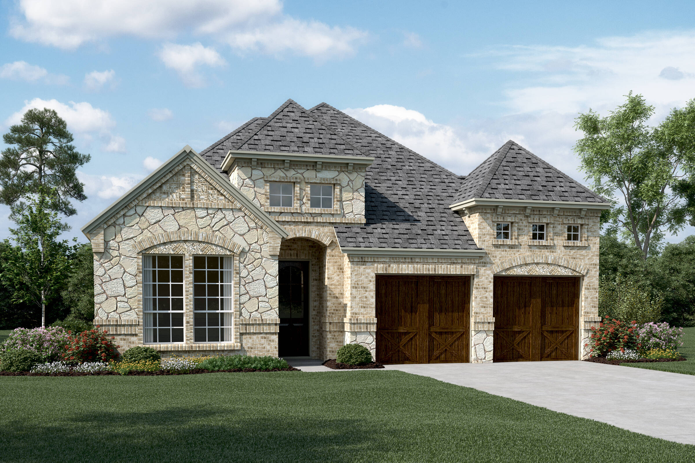 Westridge II C Stone new homes dallas texas