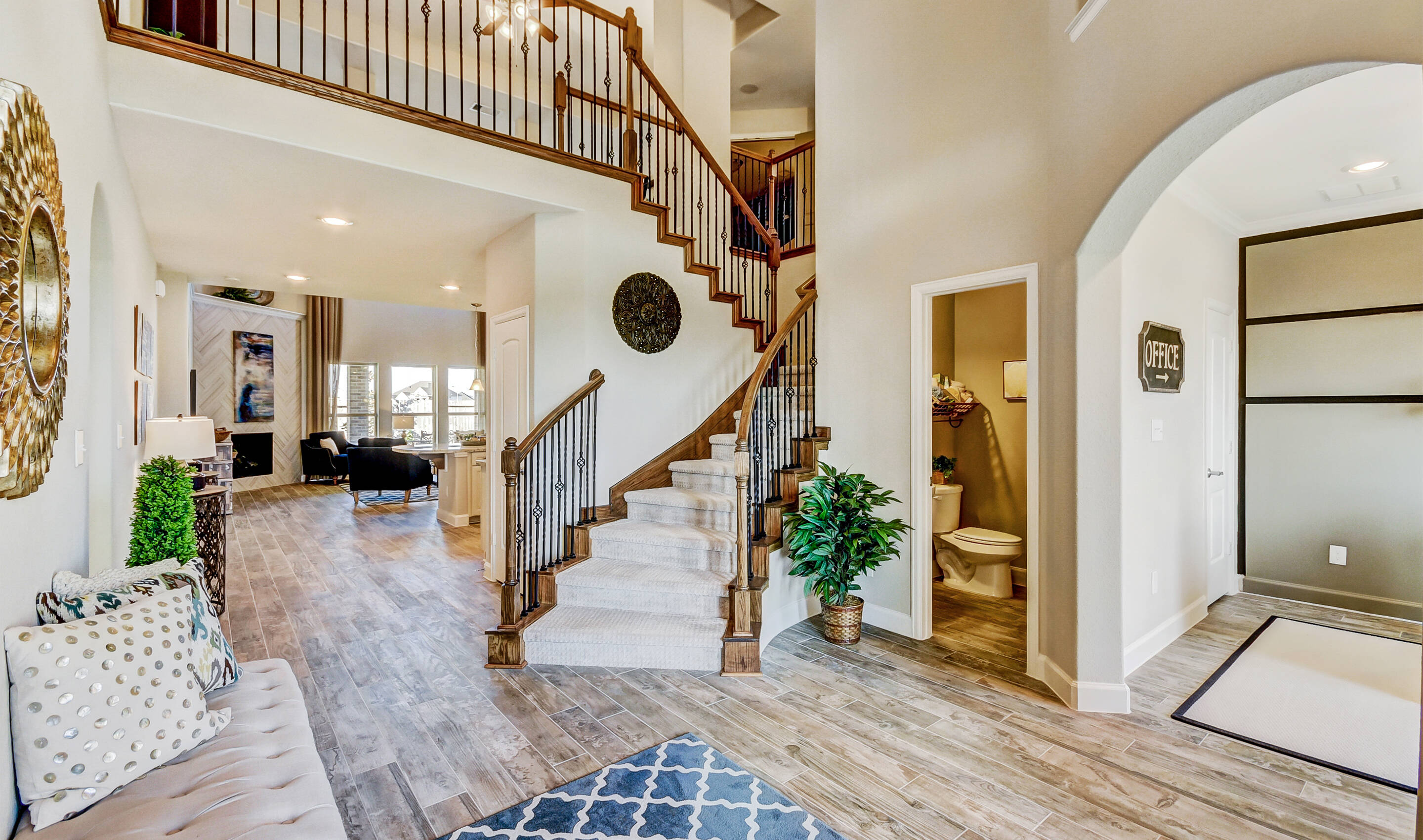 Stone Creek Estates Lane Foyer With Stone Legends Dallas Tx