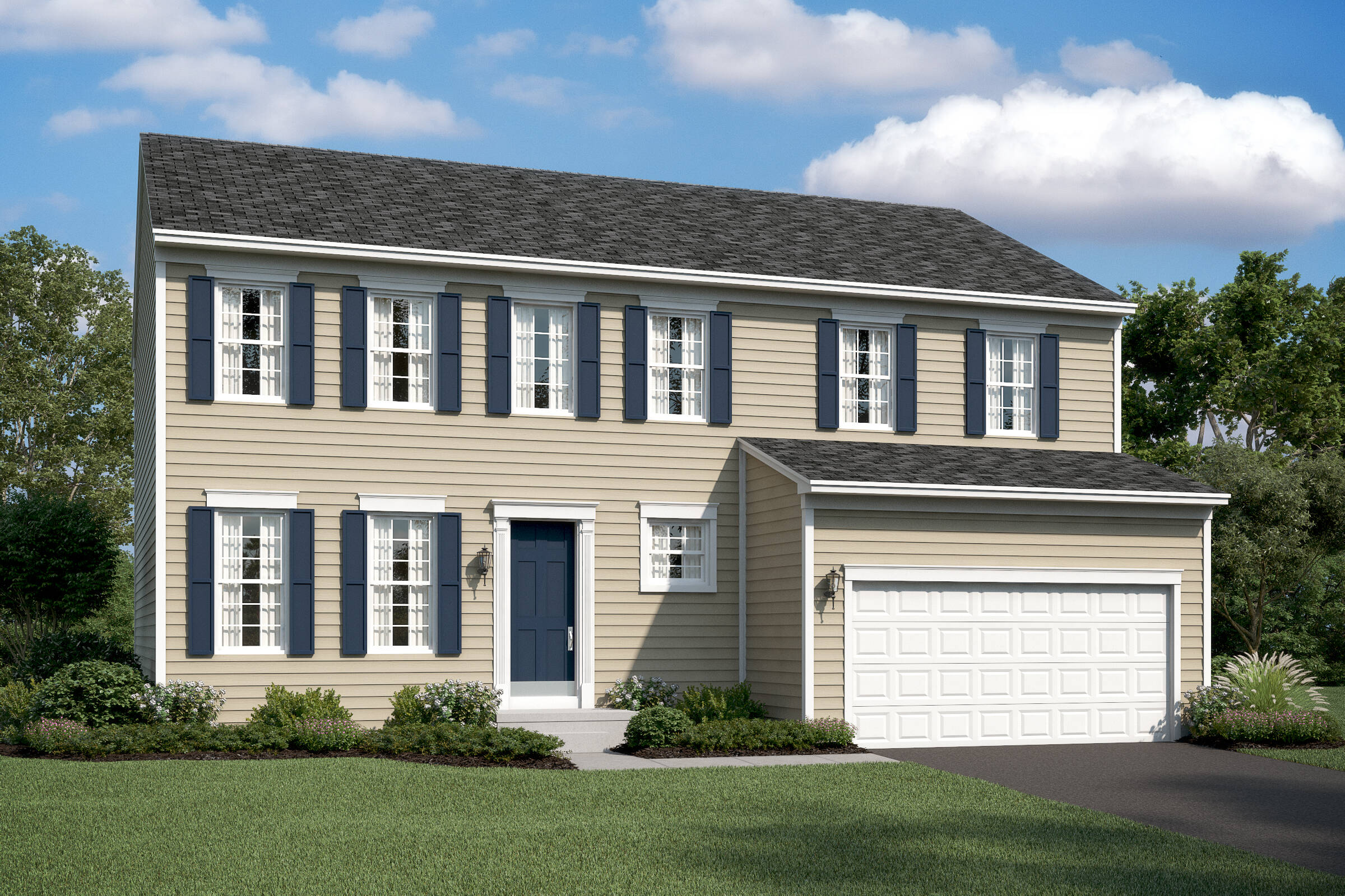 peach tree II as new homes at wellspring in virginia