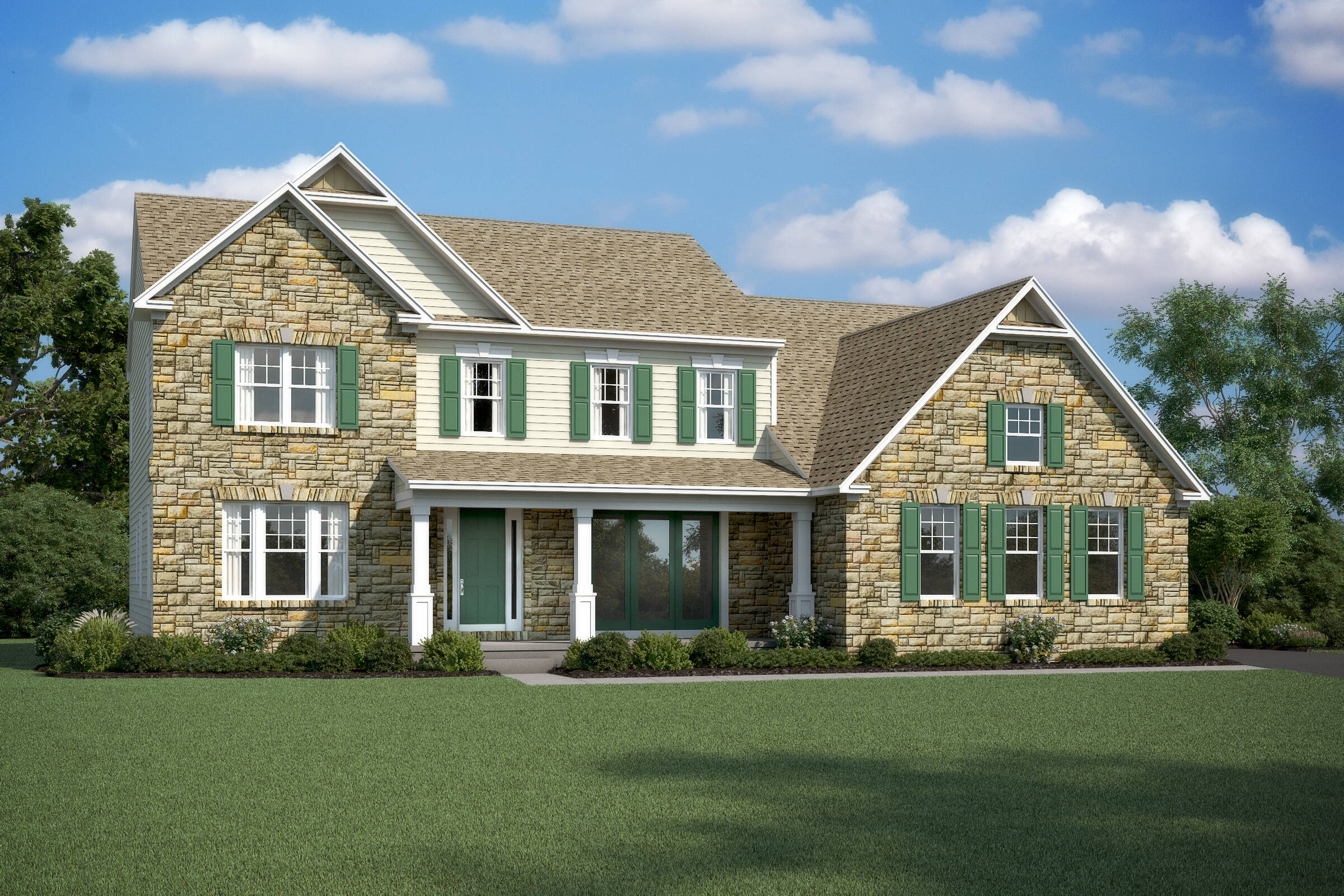 rhode island II bt opt stone new homes at alexander lakes