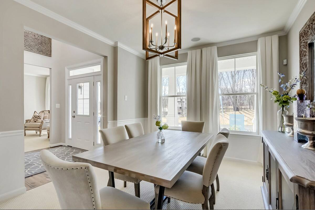dining room alaska new homes at cardinal view