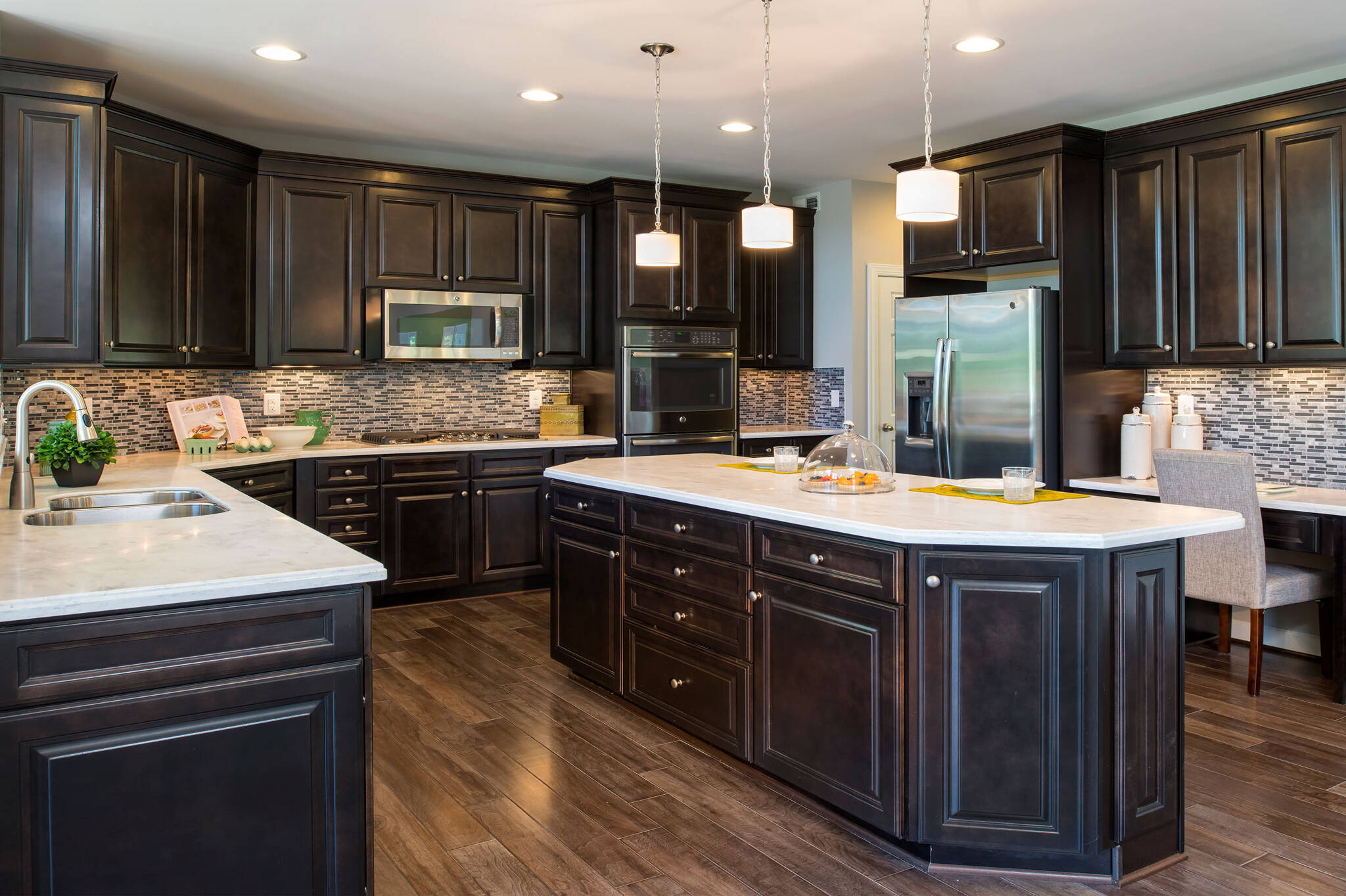 gourmet kitchen new homes at reserves at leeland station in virginia