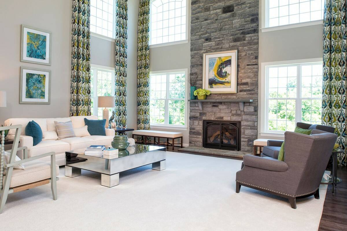 two story family room new homes at reserves at leeland station new homes in virginia