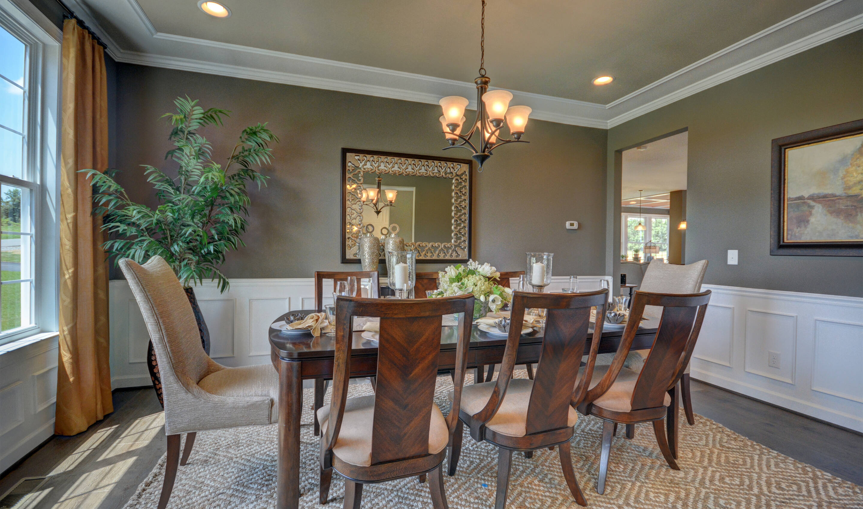 inviting dining room new homes at reserves at leeland station in virginia