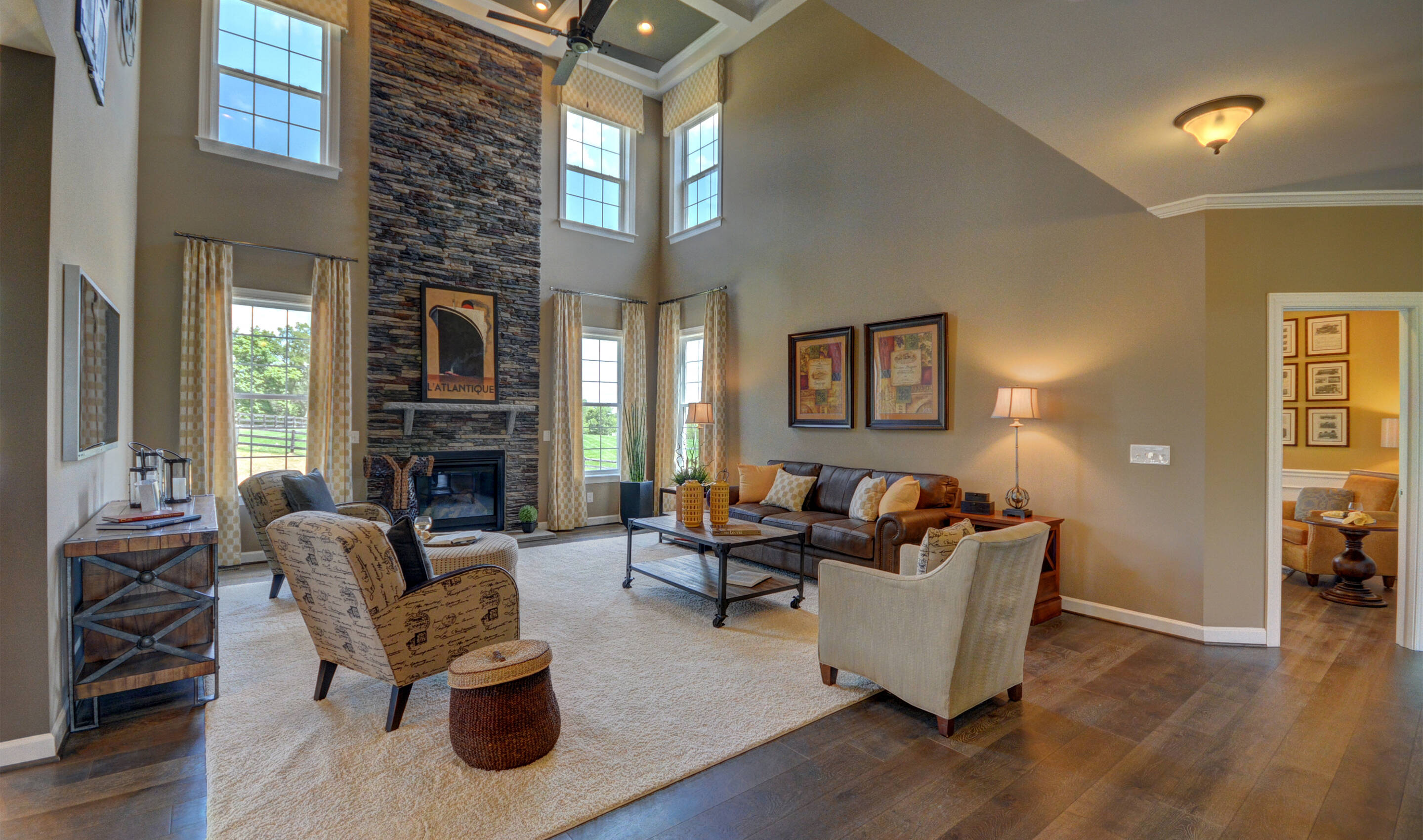 spacious family room new homes at reserves at leeland station in virginia