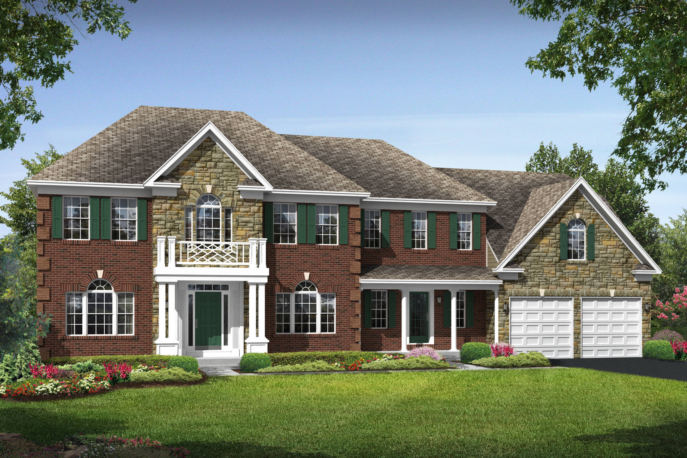 wisconsin colonial new homes at reserves at leeland station in virginia
